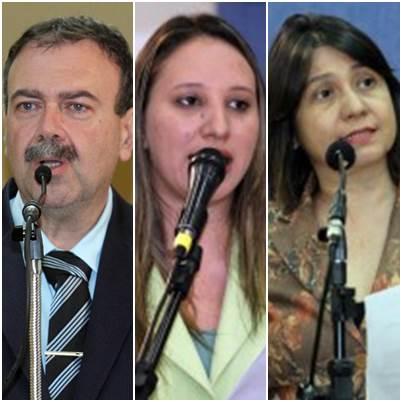 Vereadores Paulo Siufi (PMDB), Thais Helena (PT) e Luiza Ribeiro (PPS)<br />Foto: Divulgação