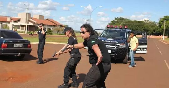 Policiais Civis em longa metragem Sem Defesa<br />Foto: Divulgação PC