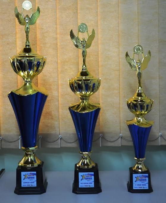 Troféus que serão entregues na quarta-feira<br />Foto: Divulgação