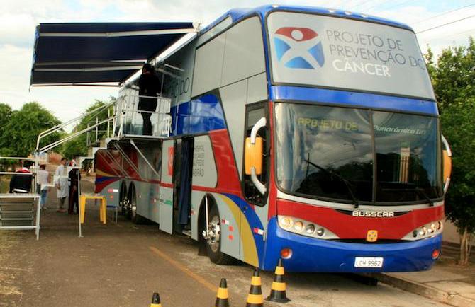 Ônibus que levará atendimento aos trabalhadores rurais do interior do Estado<br />Foto: Hospital Alfredo Abrão