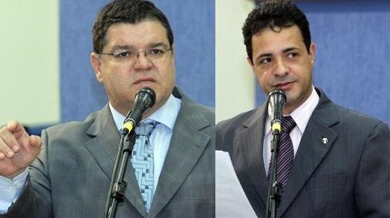 Vereadores Paulo Pedra (PDT) e Cazuza (PP)<br />Foto: Reprodução