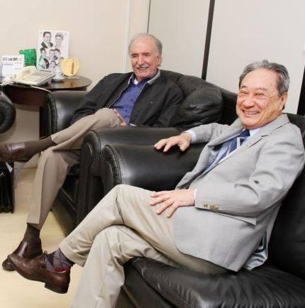 Presidente regional do PDT João Leite Schimidt e deputado estadual George Takimoto (PDT)<br />Foto: divlgação