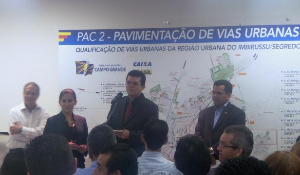 Prefeito Gilmar Olarte (PP) e secretário de obras Waltemir de Britto<br />Foto: Leide Laura Meneses