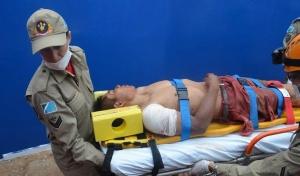 Dirso foi encaminhado em estado grave ao hospital<br />Foto: S. Bronka