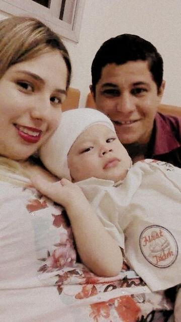 João Gabriel tinha um tumor na cabeça e precisou ser operado as pressas<br />Foto: Divulgação