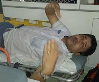 Onofre Pereira de Souza, de 46 anos, se jogou no córrego Prosa, da Avenida Fernando Corrêa da Costa, região central de Campo Grande e teve fratura no joelho, para salvar uma mulher que estava caindo na água.  Souza conseguiu retirar a mulher de dent
