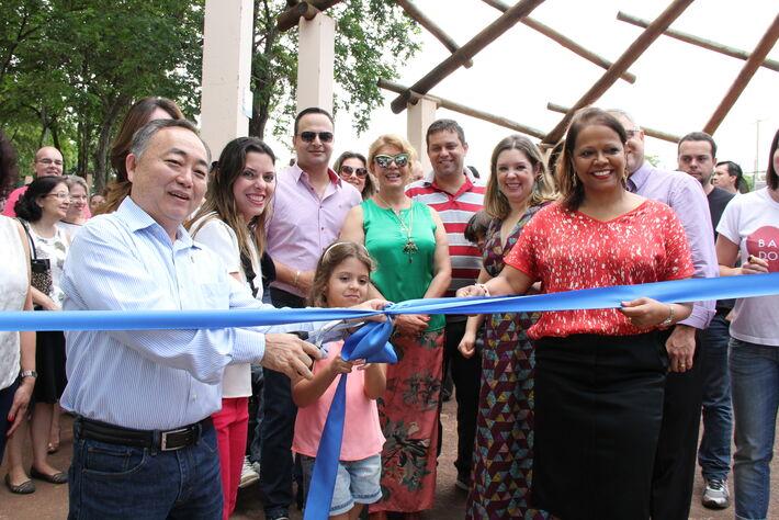 Momento da inauguração do Parque destinado às pessoas com PCD<br />Foto: Divulgação MPE