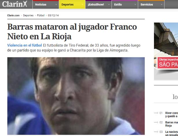 Atleta Franco Nieto, de 33 anos<br />Foto: Divulgação