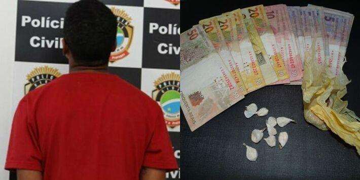 Menor foi apreendido com droga e dinheiro<br />Foto: Dourados News