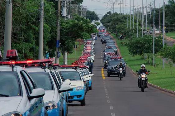 Nova frota que será entregue nesta manhã<br />Foto: Divulgação Notícias MS