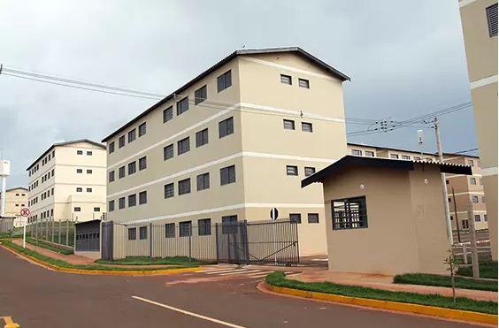 Residencial Leonel Brizola I e II é composto por 272 apartamentos de dois quartos, sala, cozinha, banheiro e área de serviço<br />Foto: Divulgação Notícias MS