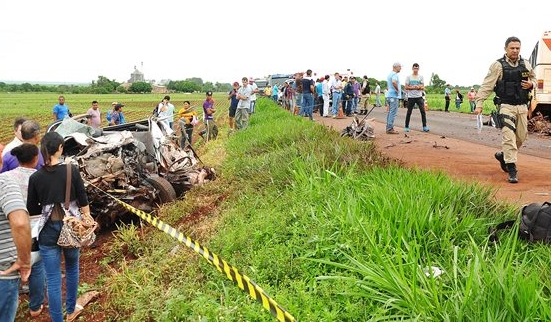 Acidente deixou um morto e 28 feridos na manhã de hoje<br />Foto: Região News