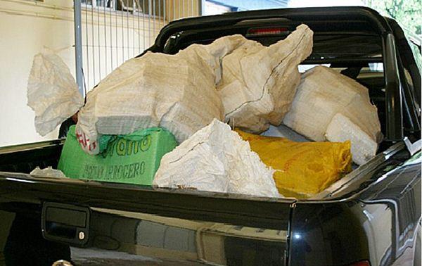 Segunda grande apreensão do entorpecente, em menos de um mês, em Mato Grosso do Sul, pela Polícia Federal<br />Foto: Divulgação PF