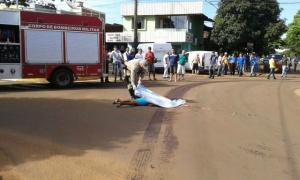 Ciclista foi atropelada em Caarapó - Foto: Caarapó News