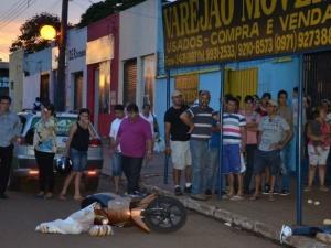 Homem foi morto a tiros<br />Foto: Ponta Porã Digital