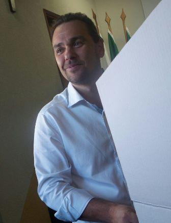 Juvenal Neo durante votação<br />Foto: Leide Laura Meneses