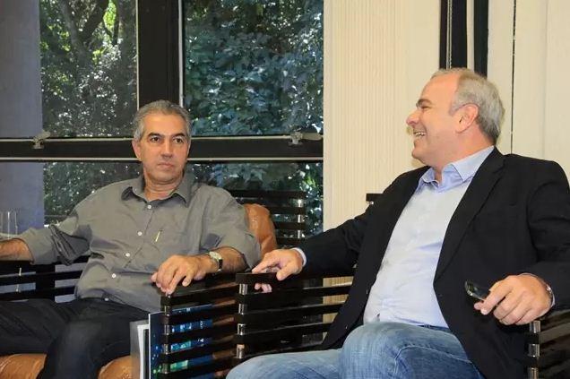 Governador Reinaldo Azambuja (PSDB) e deputado Federal Júlio Delgado (PSB)<br />Foto: Divulgação Notícias MS