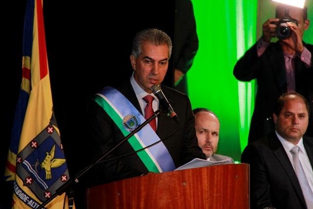 Governador Reinaldo Azambuja (PSDB) promete investir mais em educação e saúde e planejar obras<br />Foto: Wanderson Lara