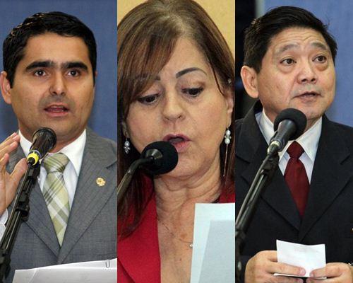 Vereadores, Herculano Borges, Magali Picarelli e Edson Shimabukuro<br />Foto: Divulgação
