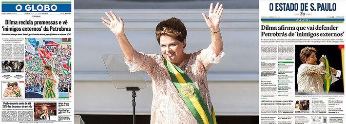 """</p> <p style=""""text-align: justify;"""">O ponto alto do discurso da presidente Dilma Rousseff ao tomar posse do seu segundo mandato foi, sem dúvida, o que abordou a Petrobras.</p> <p style=""""text-align: justify;"""">Dilma falou em defender a empresa de seus """"p"""