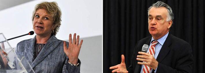 """<p style=""""text-align: justify;"""">Magoada com o PT e com o governo de Dilma Rousseff, a ex-ministra da Cultura Marta Suplicy (PT-SP) denunciou seu sucessor na pasta, Juca Ferreira, que reassume o cargo nesta segunda-feira.</p> <p style=""""text-align: justi"""