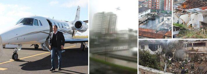 """</p> <p style=""""text-align: justify;"""">O jato Cessna transportava o ex-governador de Pernambuco e mais seis pessoas e caiu às 10h do dia 13 de agosto de 2014, no bairro do Boqueirão, em Santos, no litoral de São Paulo.</p> <p style=""""text-align: justify;"""">"""