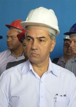 """Governador Reinaldo Azambuja (PSDB) durante vistoria das obras do Aquário do Pantanal: """"Vamos cortar mais despesas"""".<br />Foto: Tayná Biazus"""