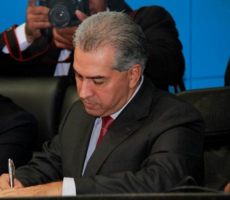 Governador Reinaldo Azambuja (PSDB)<br />Foto: Wanderson Lara