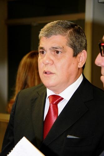 O presidente do TCE disse que só vai se manifestar após a reunião<br />Foto: Wanderson Lara