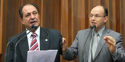 Deputados Zé Teixeira (DEM) e Junior Mochi (PMDB)