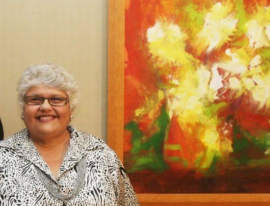 Exposição Paisagens Transcendentes, com a artista plástica Lúcia Monte Serrat,