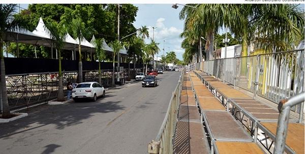 Avenida General Rondon, palco da maior festa popular do Centro-Oeste brasileiro