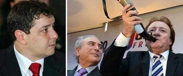 Filho do ex-presidente Lula, Fábio Luis e o empresário José Batista Júnior