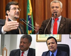 Deputados Pedro Kemp, Cabo Almi, João Grandão e Amarildo Cruz