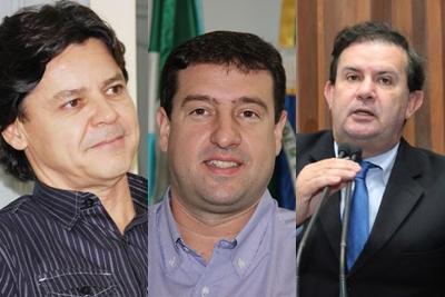 Prefeito de Corumbá Paulo Duarte, Prefeito de Ponta Porã Ludimar Novais e Dep. Estaual Eduardo Rocha