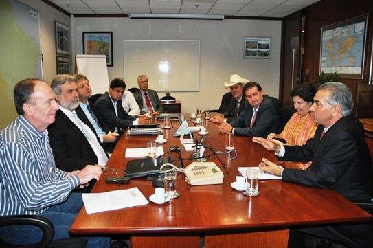 Reunião de Reinaldo Azambuja com diretores da Petrobras