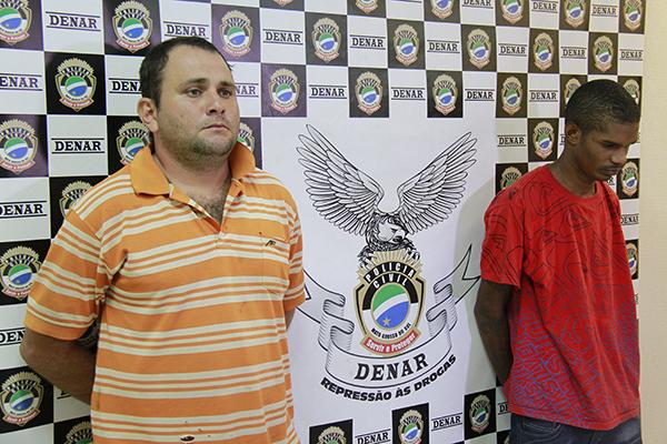 Fernando Sobrinho (Caroço) e Licas Lima Alves (Neguinho) foram presos na segunda-feira