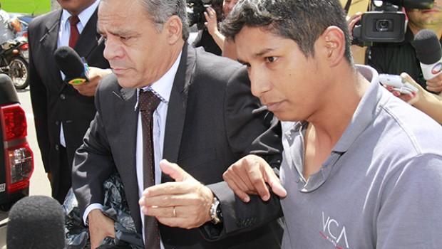 Advogado Marcos Ivan, e autor do crime Francimar Câmara. Foto: Wanderson Lara