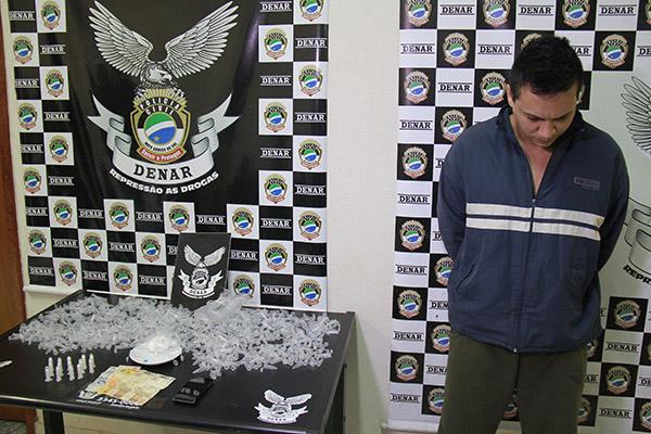 Edmir de Freitas Júnior foi preso na noite de sábado, no Guanandy/Foto: Wanderson Lara