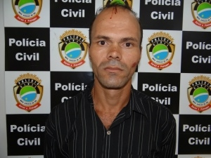 """Luciano de Araújo, 35, o """"Japonês"""", morador na região da Vila Rosa foi preso na noite de ontem"""