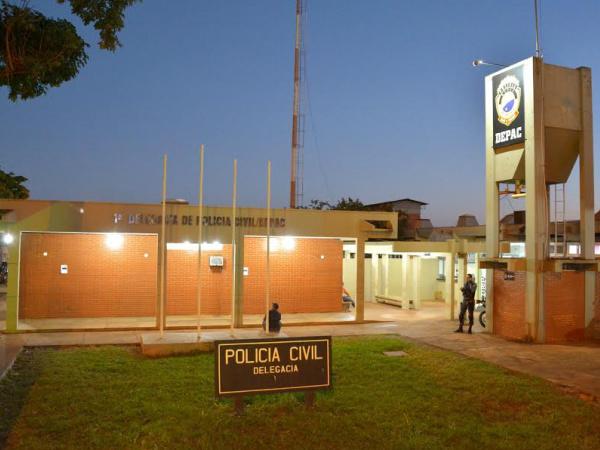 Fachada da Delegacia de Polícia Civil