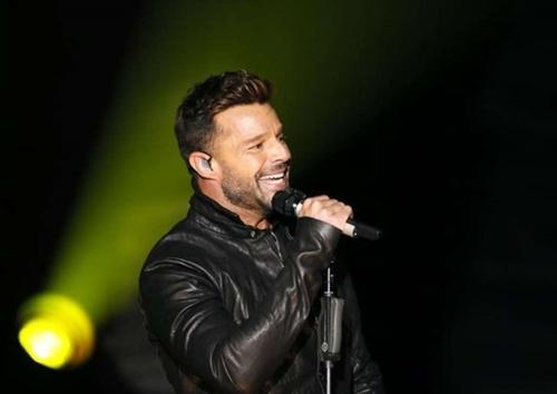 Ricky Martin durante show em Los Angeles