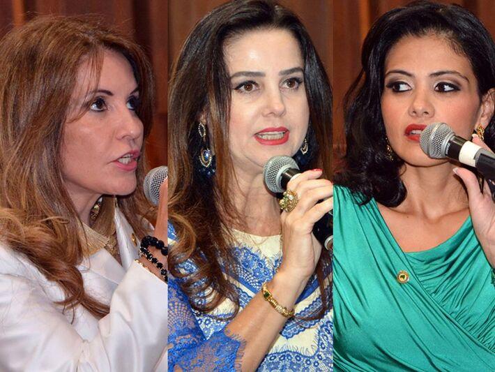 Deputadas Antonieta Amorin (PMDB), Mara Caseiro (PT do B) e Graziele Machado (PR)
