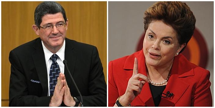 Joaquim Levy e Dilma Rousseff.