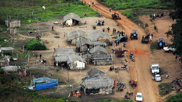 Fazanda Buriti depois da reintegração de posse que aconteceu em 2013/Foto: Moisés Palácios/O Estado MS