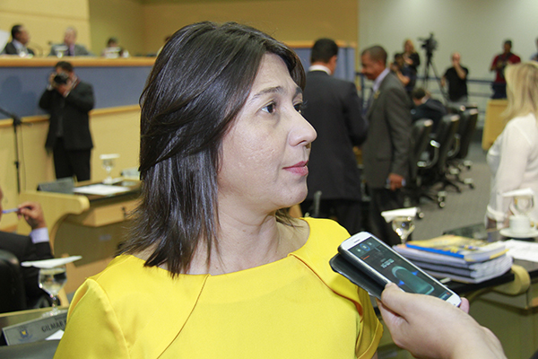 Vereadora Luiza Ribeiro.