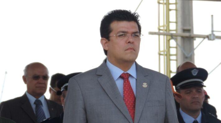 Gilmar Olarte participou de evento na Base Aérea de Campo Grande.