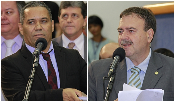 Vereadores  Chiquinho Telles e Paulo Siufi.
