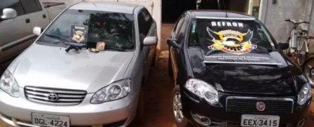 Carros roubados que foram recurados pelo DEFRON/Foto: Reprodução