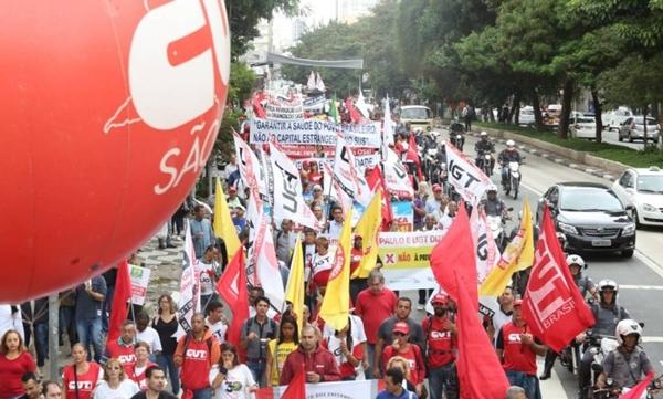 Manifestação em São Paulo.